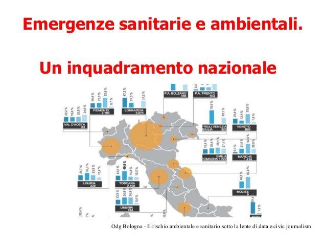 Il rischio ambientale e sanitario in Italia sotto la lente di data e civic journalism  Slide 3