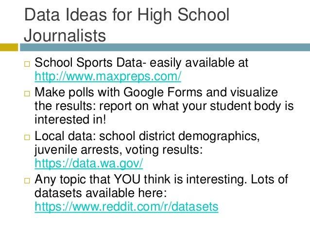 Data journalism for high school journalists