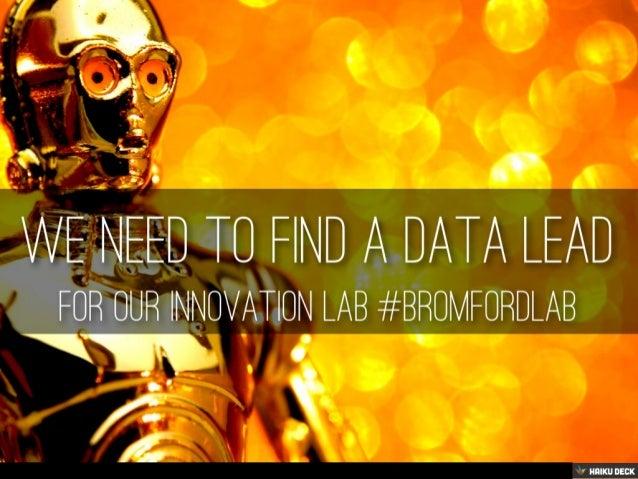 Data Lead #bromfordlab