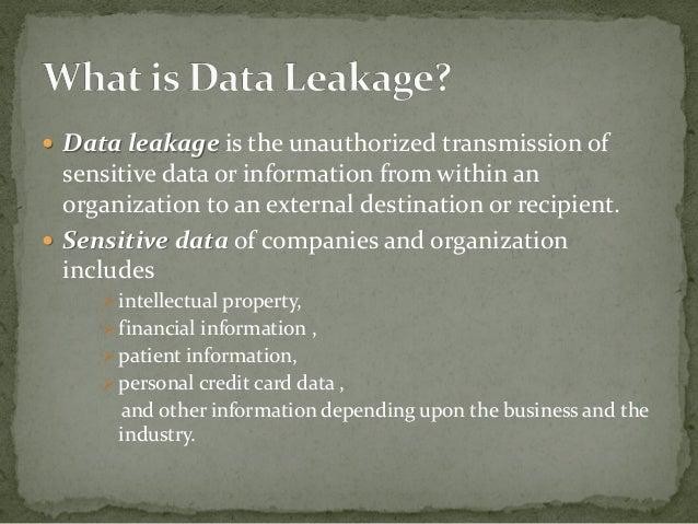 Data leakage detection  Slide 2