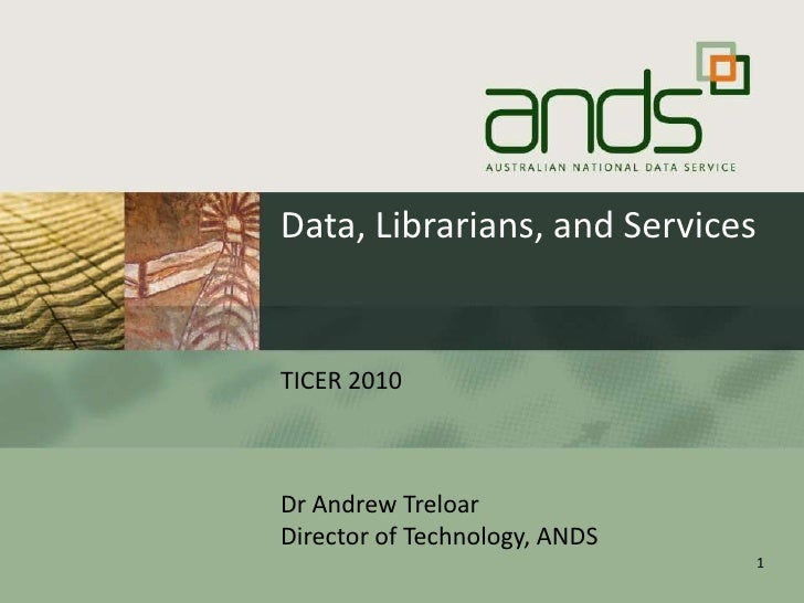 Data, librarians, and services