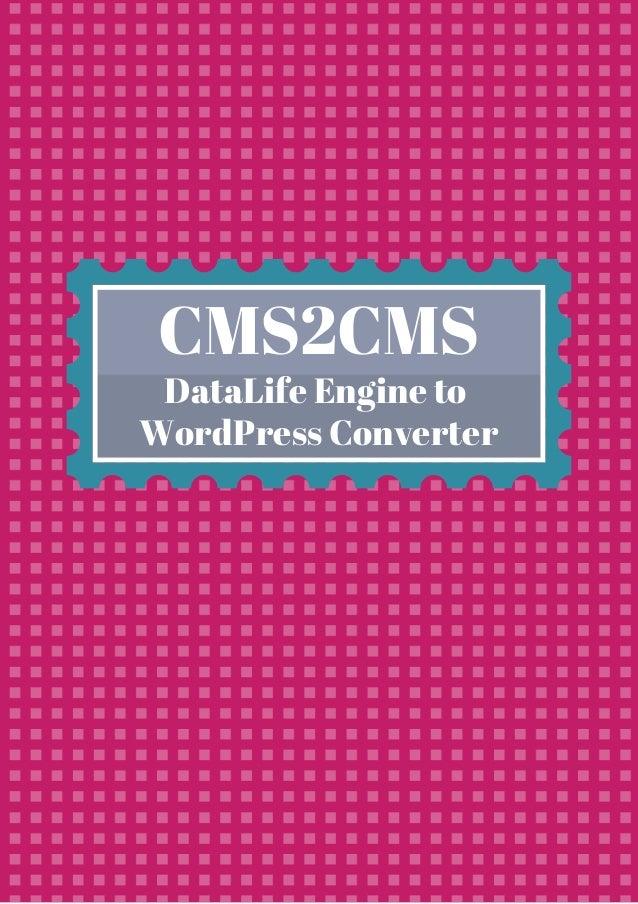 CMS2CMS DataLife Engine to WordPress Converter