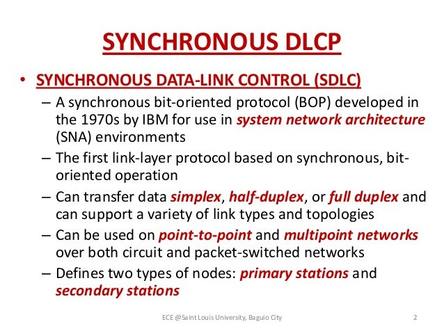 Data link control prot...