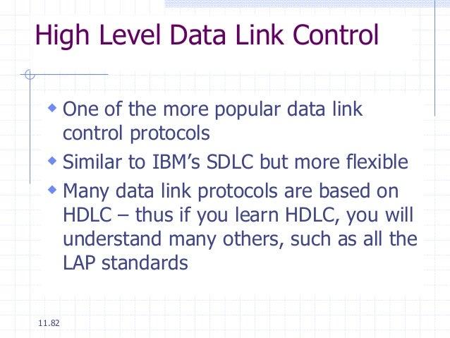 Data link control & protocol concepts