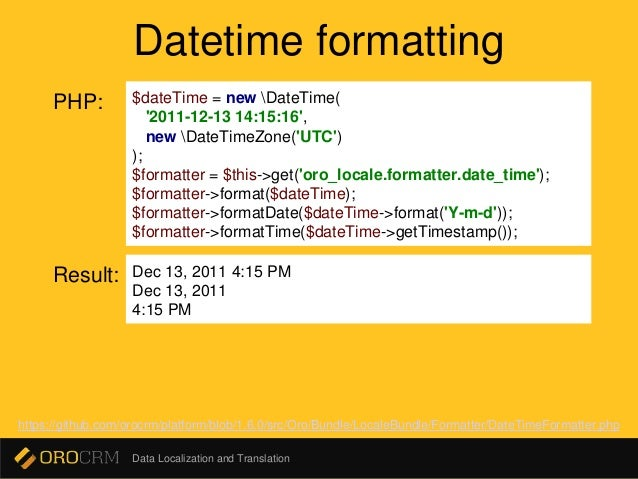 php datetime format