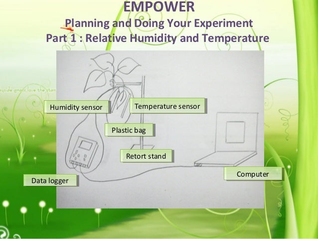 EMPOWER Planning and Doing Your Experiment Part 1 : Relative Humidity and Temperature Data loggerData logger Plastic bagPl...