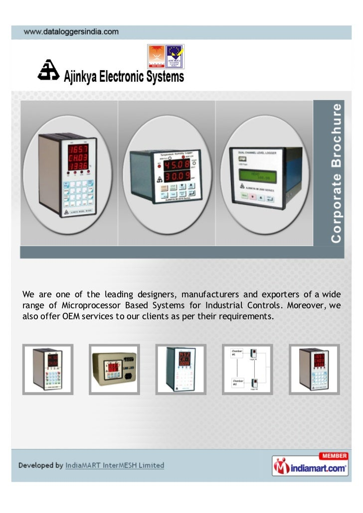 We are one of the leading designers, manufacturers and exporters of a widerange of Microprocessor Based Systems for Indust...