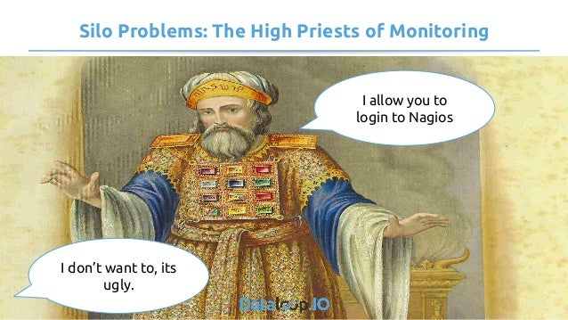 Silo Problems: The High Priests of Monitoring I allow you to login to Nagios I don't want to, its ugly.