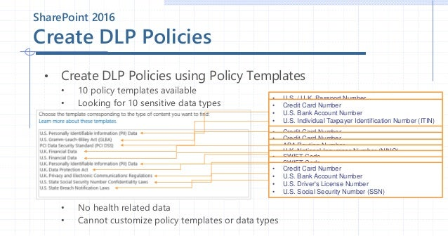 13 sharepoint 2016 create dlp policies