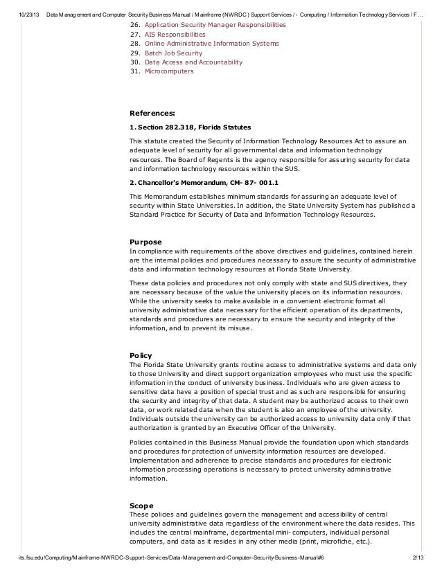 information technology services quicklinks 2 - Information Technology Responsibilities