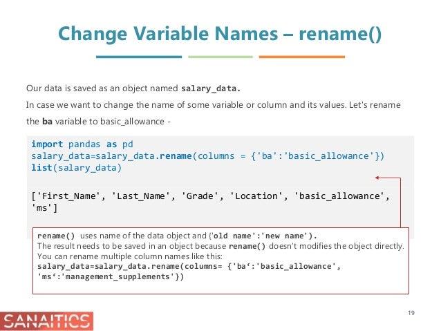 Data Management in Python