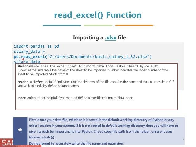 import xlsx file into pandas