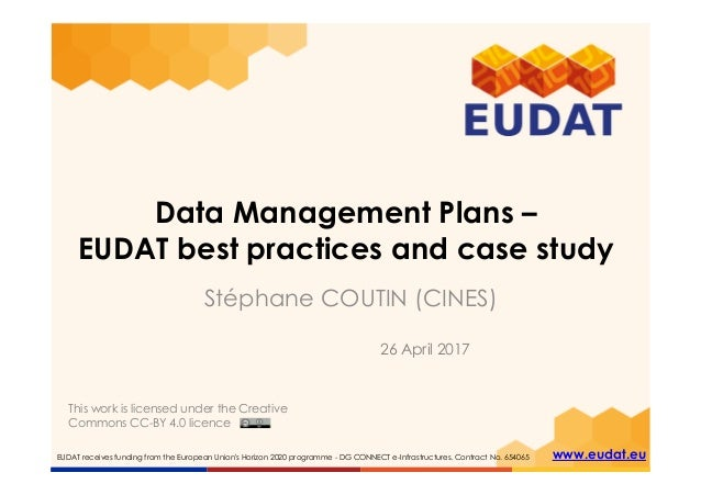 EUDAT receives funding from the European Union's Horizon 2020 programme - DG CONNECT e-Infrastructures. Contract No. 65406...