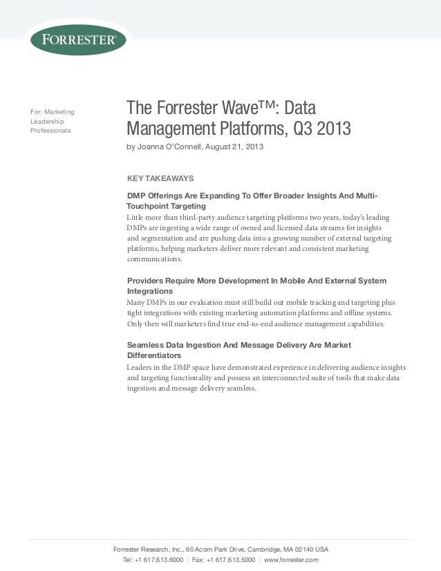 Forrester Research, Inc., 60 Acorn Park Drive, Cambridge, MA 02140 USA Tel: +1 617.613.6000 | Fax: +1 617.613.5000 | www.f...