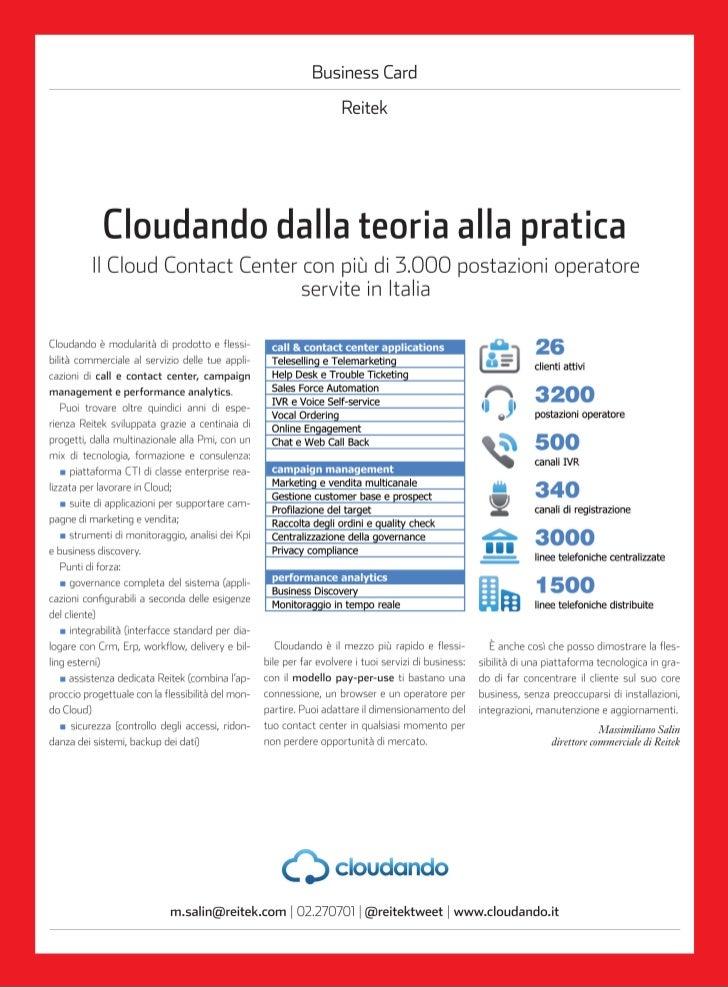 DataManager 2012 - Dossier Cloud dalla teoria alla pratica