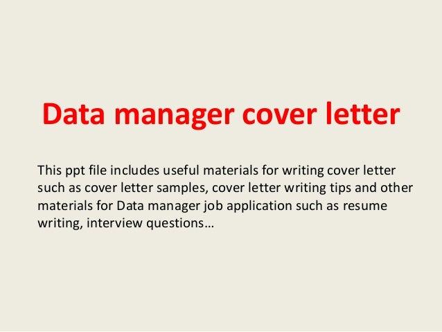 High Quality Data Manager Cover Letter 1 638 Jpg Cb 1393547269 Rh Slideshare Net Clinical  Data Manager Cover
