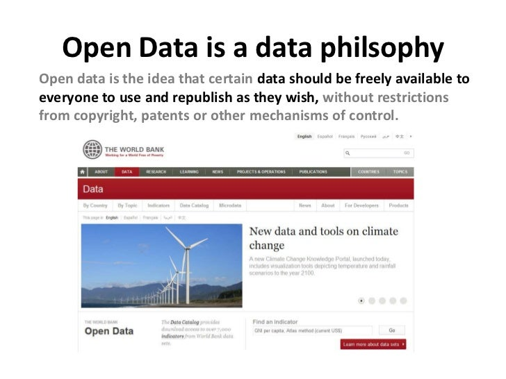 Open Data is huge withgovernments in Europe