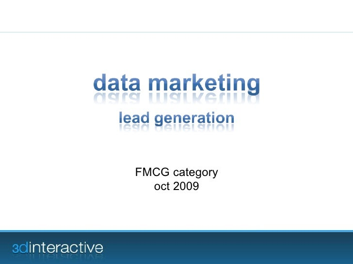 FMCG category oct 2009