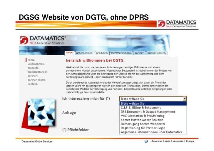 DGSG Website von DGTG, ohne DPRS