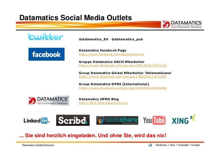 Datamatics Social Media Outlets                        @datamatics_EU      @datamatics_pub                        Datamati...