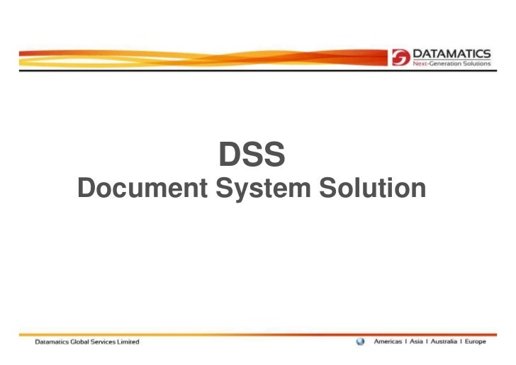 DSSDocument System Solution