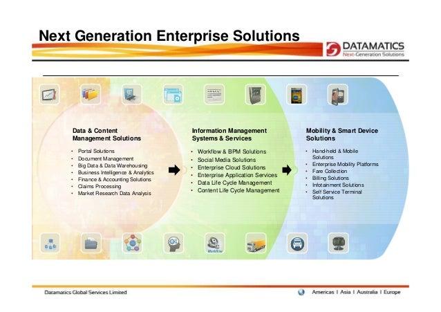 Next Generation Enterprise Solutions    Data & Content                          Information Management                Mobi...