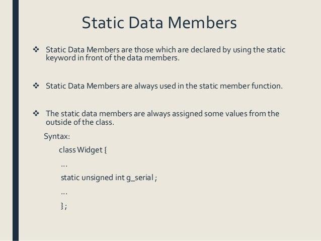 Data members and member functions