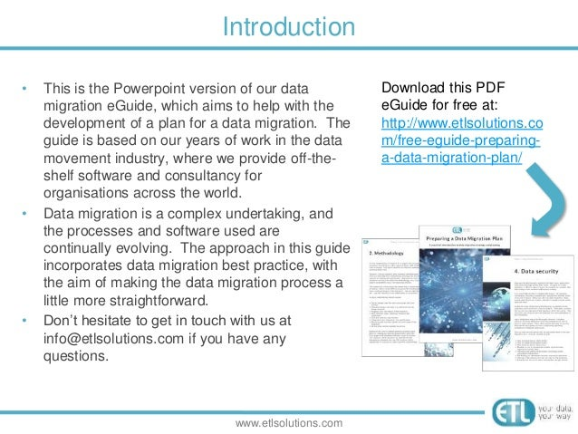 preparing a data migration plan a practical guide