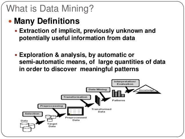 the definition and analysis of data mining Other data mining techniques for further analysis of such unusual, or rather  interesting data  definition 31 let mq be a metaquery and db a database.