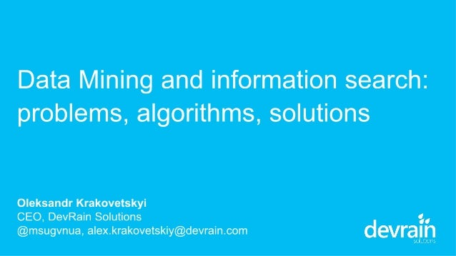 About 1. CEO of DevRain Solutions – software development (specialization: Windows Phone and Windows 8). 2. Microsoft Reg...