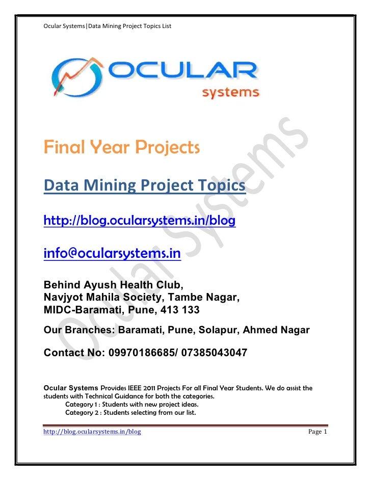 Data mining ieee-project-topics-list-ocularsystems.in