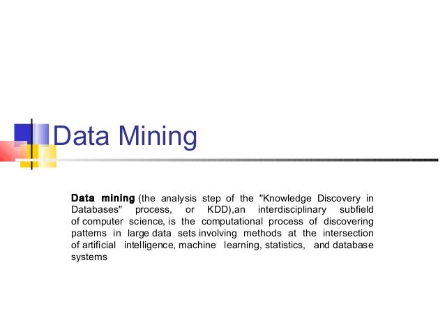 steps in data mining process pdf