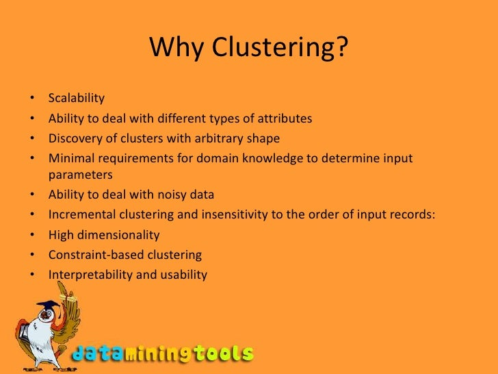 Data Mining: clustering and analysis Slide 3