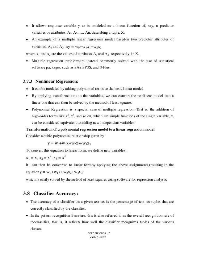 Data Mining & Data Warehousing Lecture Notes
