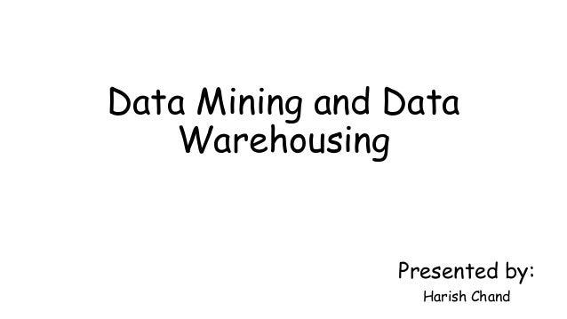 Data mining & data warehousing (ppt)