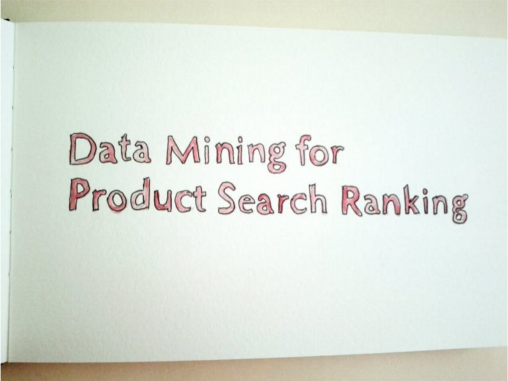 Data mining for_product_search