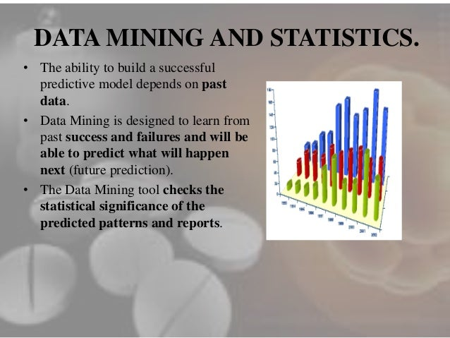 data mining in the pharmaceutical industry Free essay: a look at data mining in the pharmaceutical industry topics covered: 1) what is data mining and why is it used 2) how is data mining used in the.
