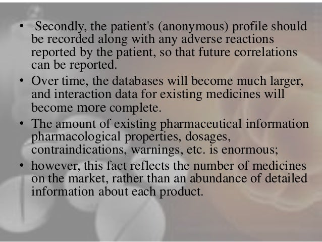data mining in the pharmaceutical industry For pharmaceutical distribution companies it is essential to obtain good estimates  of  through data mining techniques, the historical data of product sales are.