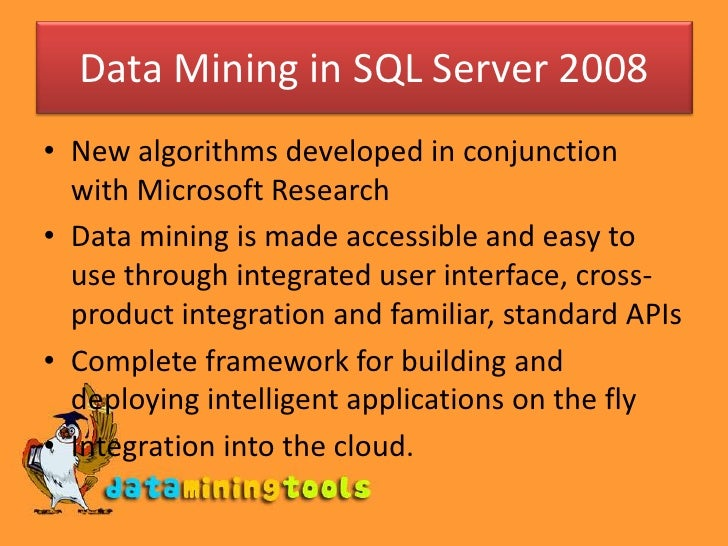 ms sql server datamining introduction