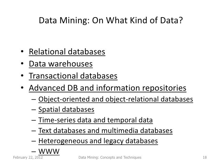 Data Mining Lecture 1 2 Conecpts And Techniques