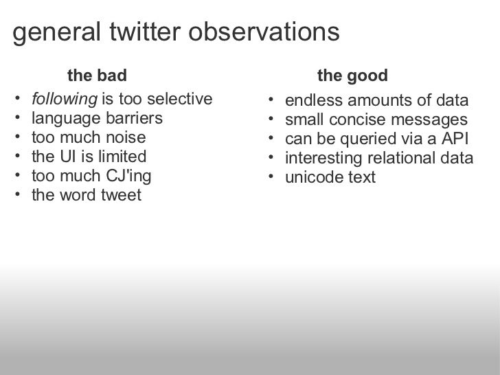 Sifting through twitter Slide 3