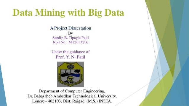 thesis report on data mining