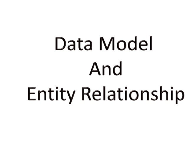 Data Model: - Data models define how the logical structure of a database is modeled. Data models define how data is connec...