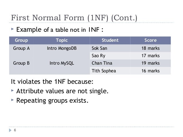 1nf 2nf 3nf With Example Pdf Dolapgnetband
