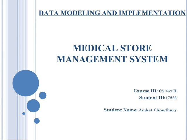 Medical Store Management System