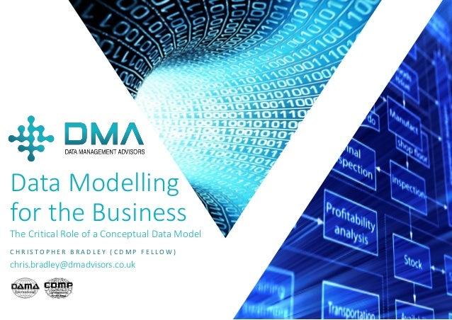 P A G E 1 Data Modelling for the Business The Critical Role of a Conceptual Data Model C H R I S T O P H E R B R A D L E Y...