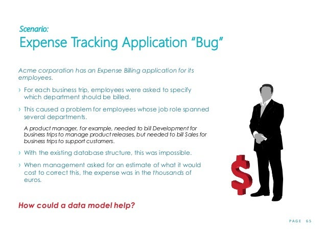 "P A G E 6 5 Scenario: Expense Tracking Application ""Bug"" Acme corporation has an Expense Billing application for its emplo..."