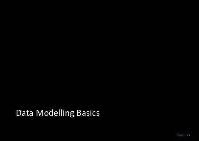 P A G E 8 8 Data Modelling Basics