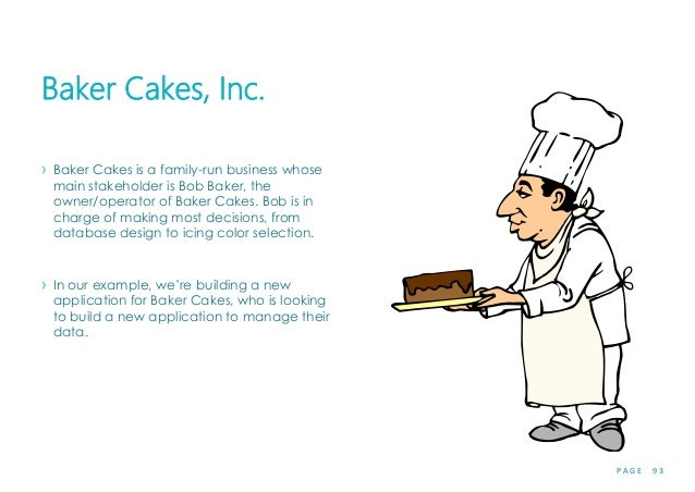 P A G E 9 3 Baker Cakes, Inc. › Baker Cakes is a family-run business whose main stakeholder is Bob Baker, the owner/operat...