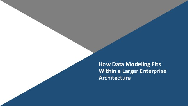 HowDataModelingFits WithinaLargerEnterprise Architecture